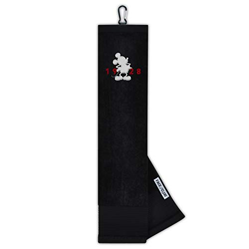 Team Effort Disney Mickey Mouse Disney Miceky Mouse Face/Club Tri-Fold Embroidered TowelDisney Miceky Mouse Face/Club Tri-Fold Embroidered Towel, Multi - Licensed Embroidered Tri Fold