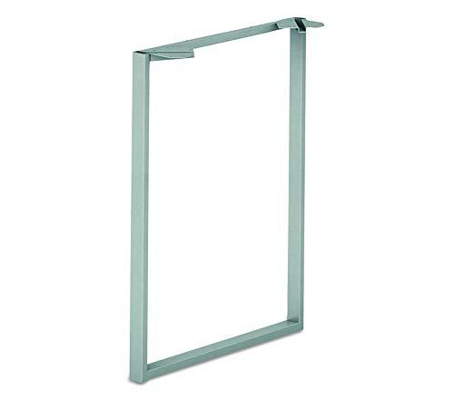 Wood & Style Office Home Furniture Premium VOI Standing Height O-Leg, Platinum Metallic