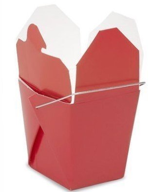 Max 24 pcs Chinese Take Out Food and Party Favor Boxes: 8 Oz. (1/2 Pint) - Red