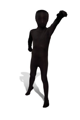 Black Original Kids Morphsuit Costume - size Large 4'1-4'6 (All Around The World Halloween Costumes)