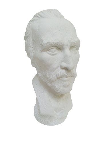 Torino Mini Van Gogh Head Plaster Cast Mannequin, Great for Artists, Artistic piece, Color: White, Size: 3