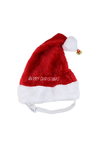 Large Merry Christmas Jingle Bell Dog Santa Hat by Midlee by Midlee