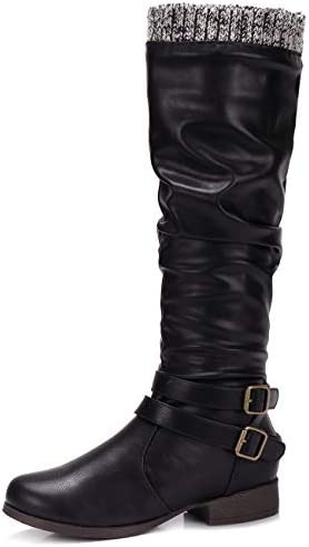 Womens Thigh Boots Riding ShoesS uede Platform High Block Heels Slouch Over Knee