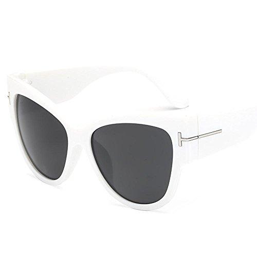 Aoligei Personnalité européenne et américaine réflectorisé lunettes de soleil fashion T mot rétro cadre grande lunettes de soleil vMtpSzD