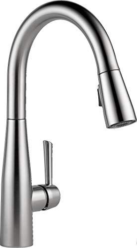 Delta Faucet Essa Single-Handle Kitchen Sink Faucet with Pull Down Sprayer and Magnetic Docking Spray Head, Arctic Stainless 9113-AR-DST (Renewed)