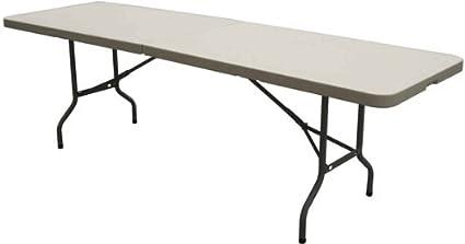 amazon com flash furniture 30x96 plastic bi fold table in granite
