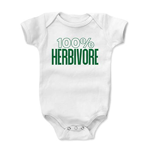 Bald Eagle Shirts Healthy Eating Baby Clothes, Onesie, Creeper, Bodysuit - 100% Herbivore (White, 6-12 Months)