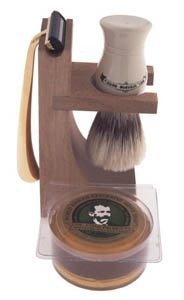Colonel Ichabod Conk 4pc Hardwood Stand Shave Set #237 (Shave Mug Colonel Conk)