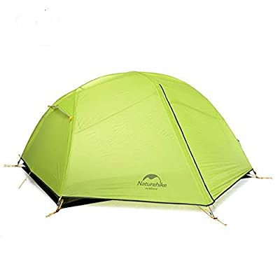 RT 2-Person Green Sturdy 20D Ultralight Waterproof Outdoor Tent: Garden & Outdoor