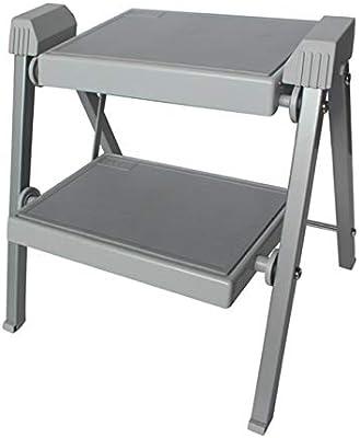 Escalera plegable portátil de dos pasos - Hogar, uso de ingeniería: Amazon.es: Bricolaje y herramientas