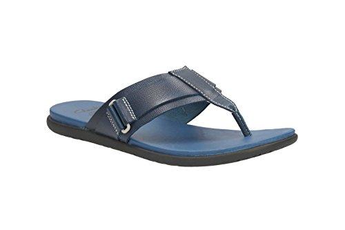 Clarks Herren Casual Valor Jump Leder Sandalen, blau
