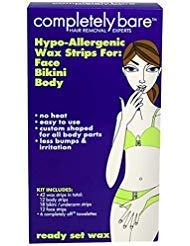Completely Bare Hypo Allergenic Wax Strips, For Face, Bikini & Body,48 ea (42 + 6), (Pack of 1)