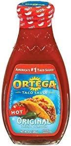 Ortega Taco Sauce Original Thick & Smooth Hot 8 Oz. Pack Of 3.