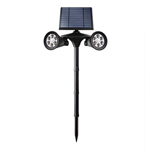 OutTop(TM) Solar Spotlights 12LED Double Head Landscape Lights Human Body Induction Wall Lamp Wireless 2 in 1 Waterproof Solar Light (Black) -