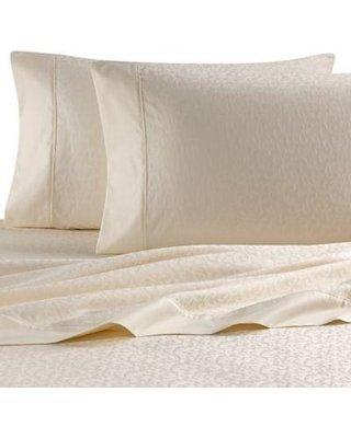 Wamsutta Jacquard Vine Ivory King Sheet Set 620 Thread Count Egyptian Cotton (Cotton Egyptian Wamsutta Sheets)