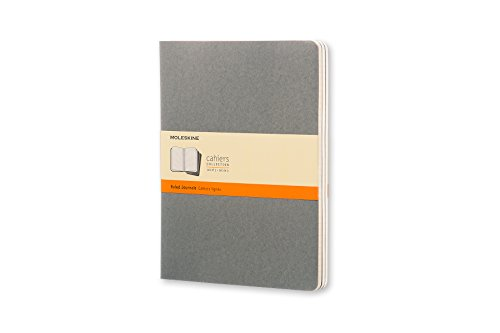 Moleskine Cahier Soft Cover Journal, Set of 3, Ruled, XL (7.5
