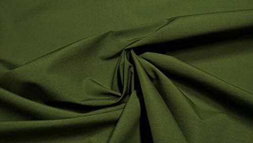 """ANAMI Supplies for Olive Drab Green Military Ny/Co Ripstop by The Yard Apparel Durable Fabric 66""""W DIY for Art & Craft Supplies"""