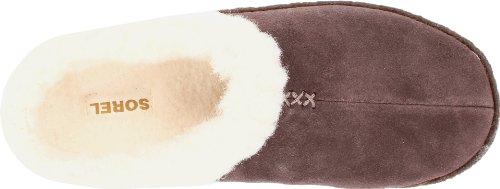 Sorel Nakiska NL1474 - Pantuflas de cuero para mujer Marrón (Marrone (Braun (Hawk 248)))