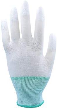 手袋 日常 実用 保護手袋PU指先コーティング作業用手袋グリーンニットカフス、10ペア (Color : Green 48 Pairs, Size : L)