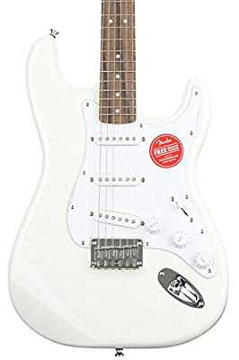 Squier by Fender Bullet Stratocaster Beginner Hard Tail Electric Guitar - White