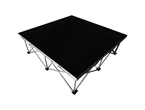 Hisonic PS01 4' X 4' Portable Stage Platform Modular System with 2' (Collapsed) Riser ()