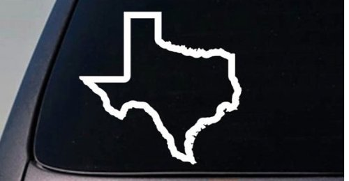 (CMI199 TEXAS state sticker decal car truck window college football Hog Hunting | White | 4.5