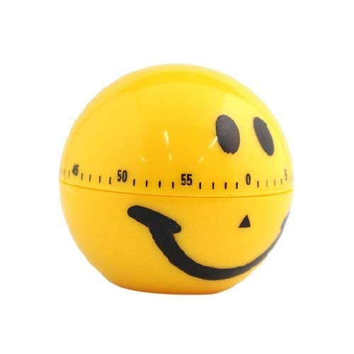Cooking Timer Alarm - Nhbr Cooking Timer Alarm 60 Minute Smile Face - Copier Mini Countdown Cartoon Time Hourglass Digital Clock Magnet 220v ()