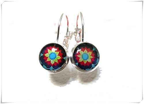 MEXICAN ART Dangle earrings, Mexican Folk Art earrings,Mexican Jewelry,Mexican earrings, Mexican Ornamenta, little dangle earrings