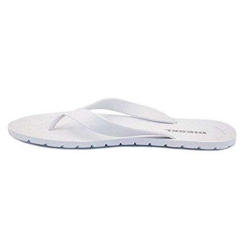 Diesel - Voltear Splish Rubber Flops Y00132 Hombres - Talla : 42 - Color : Blanco