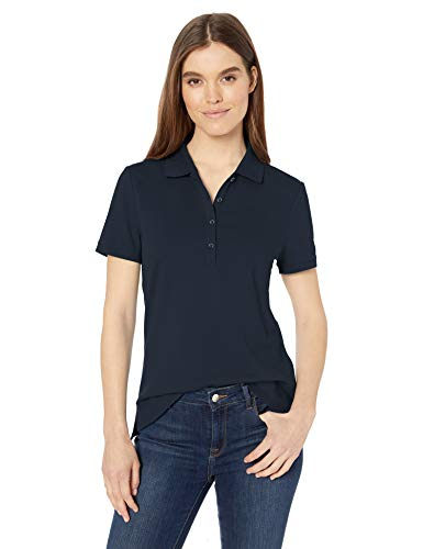 Amazon Essentials Women's Short-Sleeve Polo, Navy, M