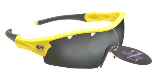 Rayzor Professional Lightweight UV400 Yellow Sports Wrap Cricket Sunglasses, ... by Rayzor