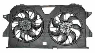 TYC 621370 Dodge/Chrysler Replacement Radiator/Condenser Cooling Fan Assembly - New Radiator Fan Assembly