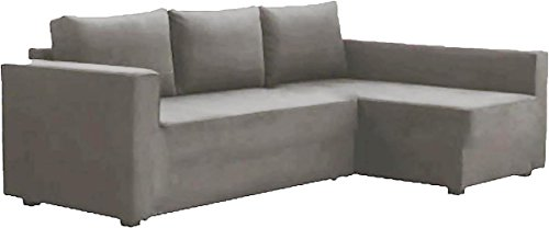 The Cotton Manstad Cover Replacement Is Custom Made For Ikea Manstad Sofa Bed with Chaise Sectional Cover, Or Corner Slipcover (Left ARM Longer, light gray)