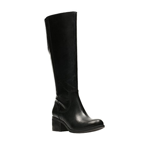 arl Viola Riding Boot, Black, 10 M US (Clark Viola)
