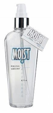 Pipedream Moist Personal Lubricant Lube Crystal Clear, Non-staining and Fragrance-free, Providing Long-lasting Slipperiness : Size 4 Oz. / 118 Ml. by Pipedream Moist ()