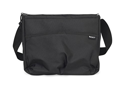PackIt Freezable Carryall Lunch Bag, Black