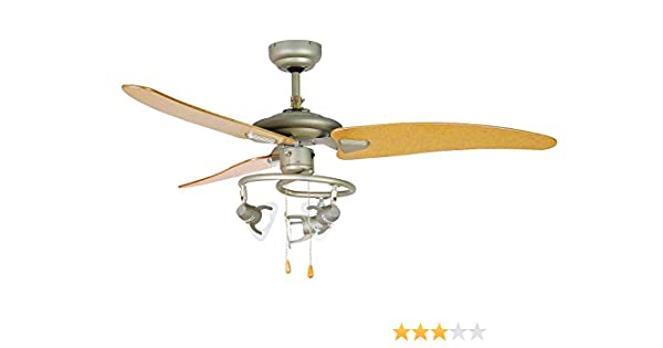 Orbegozo CT 18120 N Ventilador de techo con luz, 3 palas, 120 cm ...