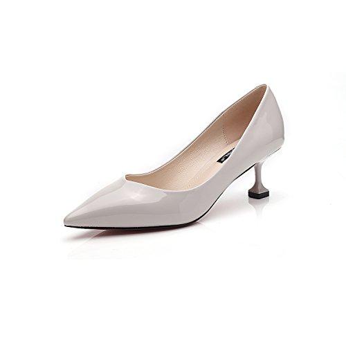 tacones fina mujer luz altos tacón Gray de la los de de like zapatos alto punta coreana de señaló versión zapatos La con BTgPwP