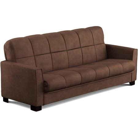 Baja Convert-a-Couch Sofa Sleeper Bed Sofa Converts Into a Full-Size Bed and Seats 3 Comfortably (Brown)