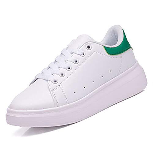 PU Nero 5 Bianco CN37 Autunno Comoda Donna E Nero Punta EU37 Verde UK5 TTSHOES Bianco Tonda Poliuretano Per US7 Scarpe Green Piatto Sneakers 1BWOSA6