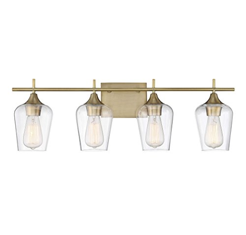 Savoy House Octave 4 Light Bath Bar 8-4030-4-322 in Warm Brass by Savoy House