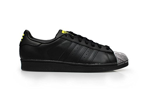 Adidas Originals Superster Pharrell Supershell Heren Trainers Schoenen Van (uk 8.5 Ons 9 Eu 42 2/3, Cblack / Cblack / Geel S83360)