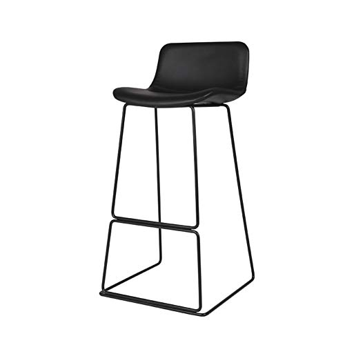 Barstool for Kitchen Pub Counter Chairs PP High Stools Outdoor and Indoor, Black