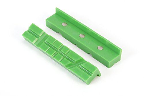 Frylr 6'' Magnetic Multi-Groove soft Vise Jaws/Vice pads (1:5'' 8''1.5'', Green) TPU rubber/hold and protect round, hexagonal, or serrated parts. by Frylr (Image #4)