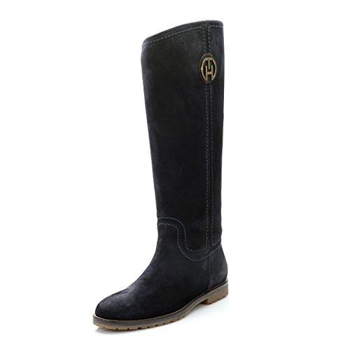 Tommy Hilfiger Womens Midnight Wera 21B Suede Boots-UK 6.5