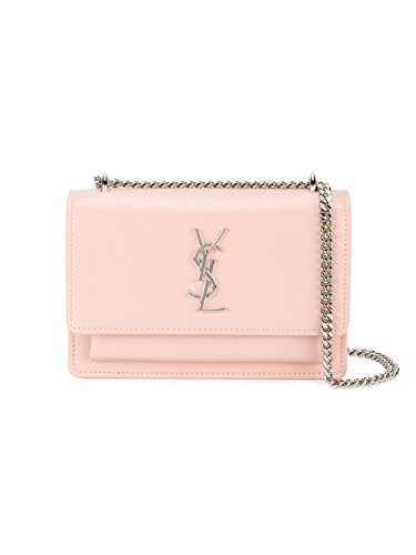 Saint Laurent Women's 452157D422n6920 Pink Leather Shoulder Bag by Saint Laurent