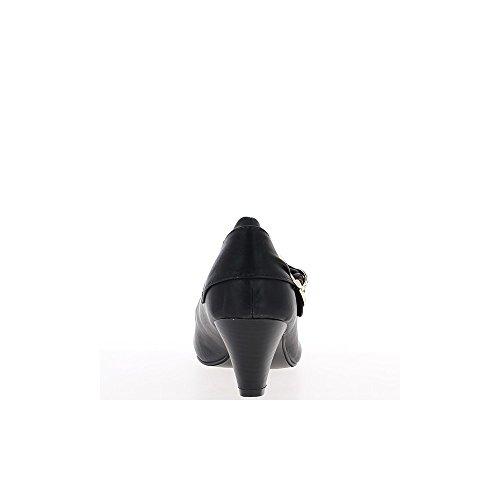 Escarpins noirs grande taille talon de 6cm décor strass