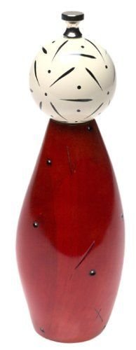 William Bounds, LTD Pep-Art 9-inch Hand Painted Mill Gourd-Red (Art Pep)
