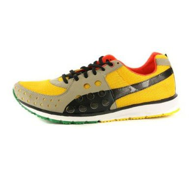 2d45856354 Puma Mens FAAS 300 Yellow Jamaica Running Shoes Trainers UK 10.5 ...
