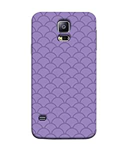 ColorKing Samsung S5 Case Shell Cover - Waves Purple
